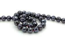 Natural Faceted Garnet Round Sphere Gemstone Stone Loose Beads with Coating