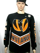 Wu-Tang by Wu wear 36 Chambers Tiger Style L/S Black orange Tee Shirt Size (S)