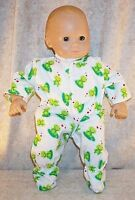 """Doll Clothes Baby Made 2 Fit American Girl 15"""" inch Bitty Pajamas Frog Heart"""