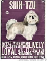 20cm Vintage Style Metal Shih Tzu Breed character Sign Plaque dog lover gift