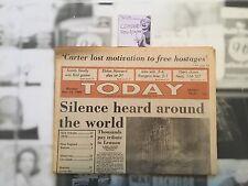 BEATLES JOHN LENNON MURDER DECEMBER 15 1980 TODAY NEWSPAPER Veryfine