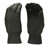 G & F 4408 9OZ. Brown Jersey Gloves, Heavy Weight. Sold by 12-Pair Pack