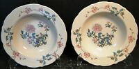"Syracuse Summerdale Soup Bowls 9 1/4"" Vintage Restaurant Ware Set of 2 Excellent"