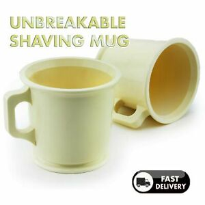 shaving Mug for mixing soap cream, IVORY Mens grooming shaving Bowl soap PLASTIC