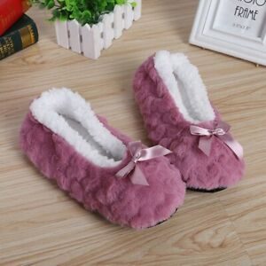 Women Warm Slippers Socks Floor Shoes Non-slip Plush Shoes Indoor Winter Fashion