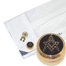 Gold Plated Masonic (No G) Cuff Button Covers (X2AJBC009)