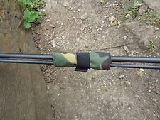 4 x Camo pattern fishing carp rod straps ties lead bands for inline leads