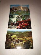 Lot Of 3 Vintage European Post Cards Euc