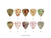 Vintage Floral Pattern Guitar Pick Set (10pcs) BUY 2 SAME GET THE 3RD FREE