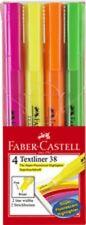 Surligneurs Faber Castell Textliner 38- étui de 4 pièces