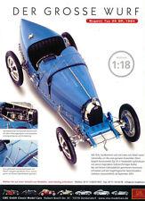 Cmc publicitaria... Bugatti Type 35 GP, 1924 en 1-18...... anuncio del periódico