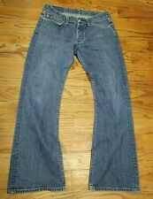 G Star Raw Medium Denim Button Fly Jeans Low Boot Mens Size 34 x 31L
