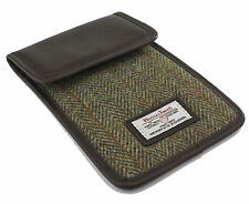 Harris Tweed Tablet Mini Case Brown/Green Herringbone  NEW  22397