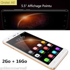 """Gretel A6 4G Smartphone 5.5"""" Débloqué Android6.0 Quad Core 2+16G 13+5MP GPS Doré"""