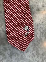 Vintage Popeye Silk Red Striped Mens Tie Necktie
