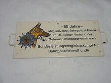 Miniatur Metall Zuglaufschild DB - 60 JAHRE BUNDESLEISTUNGSVERGLEICHSKAMPF HUNDE