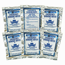 Mainstay Emergency Drinking Water - 6 Pack 3 Day Survival Rations 5 Year Shelf