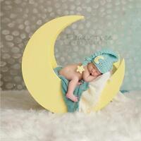 Crochet Newborn Photography Boys Girls Moon Star Knit Hat Cap Baby Photo Props