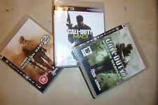 3 COMPLETE PLAYSTATION 3 PS3 GAMES CALL OF DUTY MODERN WARFARE 2 MW2 3 MW3 4 MW4