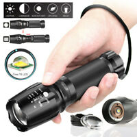 Zoomable 5000Lumen LED Military Grade Tactical Flashlight 18650 Battery Torch