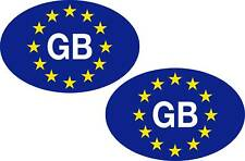 2 Euro GB oval stickers decals - 1st Class Postage