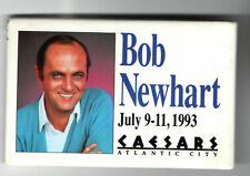 1993 old BOB NEWHART pin COMEDIAN Atlantic City Premium pinback button