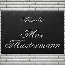 Türschild Wohnungsschild ♥ Familie + IHR NAME ♥ LASER GRAVUREN Schiefer 50x30 cm