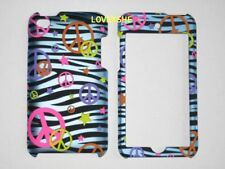 iPod Touch 4th Gen - HARD CASE COVER BLUE ZEBRA PEACE