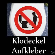 Klodeckel Aufkleber für WC Toilettendeckel Klo Bad Neu