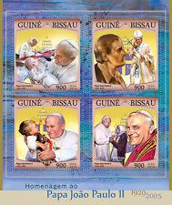 Guinea-Bissau 2016 MNH Pope John Paul II 4v M/S Mother Teresa Stamps