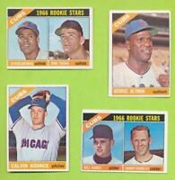 4 Different 1966 Topps Chicago Cubs Cards Lot With Randy Hundley  Ex-MT Shape
