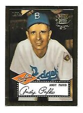 ANDY PAFKO BROOKLYN DODGERS 2002 TOPPS GOLD 1952 REPRINT #52R-4