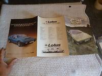 Dépliant Catalogue car 1979 : LOTUS ELITE