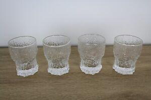 Vintage retro set 4 x Iittala Finland Aslak Glasses Tapio Wirkkala sherry/ shots