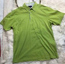 Alan Flusser Mens Shirt Size M Lime Green Short Sleeves Nwt