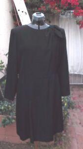 Hanae Mori Black silk dress VTG Couture Women's Wear Daily Beene Trigere 60s 70s