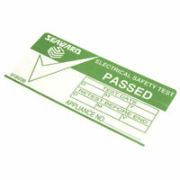 Seaward 91B038 PAT Testing Labels 'Pass'
