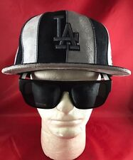 New Era 59Fifty MLB LA Dodgers Fitted Hat Black & Gray Suede