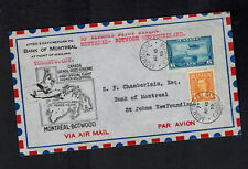 1939 Montreal Canada to Botwood FFC airmail First Flight Cover