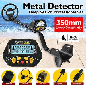 Deep Sensitive Metal Detector Treasure Hunter LCD Searching Gold Digger 350MM OZ
