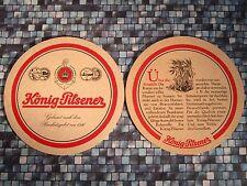 Beer Pub COASTER <> KONIG Brauerei Pilsener ~ Duisburg, GERMANY ~ Grains in Bier