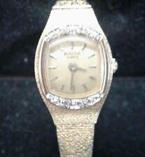 Womens Diamond Bulova Wrist Watch