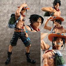 Japanese Anime One Piece POP Portgas D Ace Action Statue Figurine 23cm no box