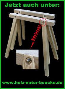 2 neue Stützböcke Holzböcke Arbeitsbock, Montageböcke,mit Edelstahlverbindung
