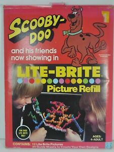 Vintage 1978 LITE BRITE Scooby Doo Picture Refill Set - 12 Sheets 24 Guidesheets