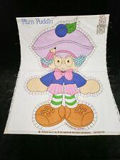 Vintage Strawberry Shortcake Plum Puddin Cut Sew Panel Doll Pillow Springs Mills