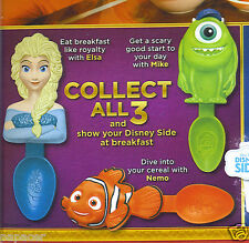 2014 Disney Parks SPOONS Kelloggs cereal Finding NEMO