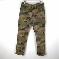 Madewell Womens The High Rise Slim Boyjean Jeans 29 Cottontail Camo Bunny Desert