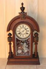 "Antique Ansonia ""KING"" Oak 8 Day Parlor Clock"