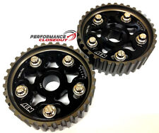 AEM Tru Time Black Adjustable Cam Gears Set Honda / Acura B16 B18 B20 Engines
